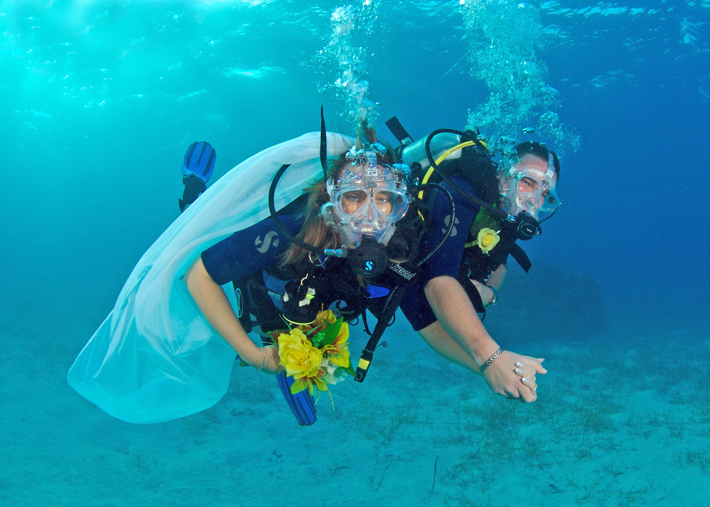 Underwater Wedding Dive Weddings Destination Wedding WeddingsAbroad.com Cayman Islands