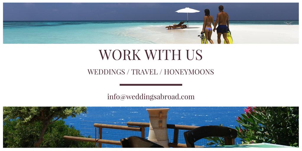Work With Us at WeddingsAbroad.com - International Wedding Planner Expert Influencer & Blogger