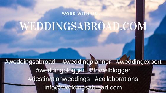 Work with weddingsabroad.com